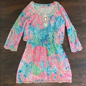 Lilly Pulitzer Lets Cha Cha Delisa Beaded Dress XS
